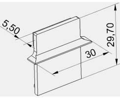 BILTON Endkappe XT für Einbauprofil ALU B30xH30xL8mm...