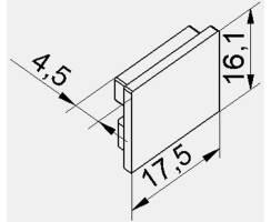 BILTON® Endkappe YT für Aufbauprofil ALU B17,5xH16,1xL4,5mm PROFIL