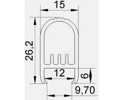 BILTON Aluminium Profil | CT 2000mm 28W/m Hänge 26,2x15mm...