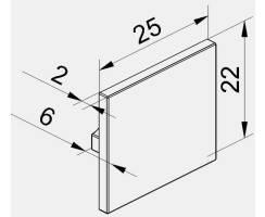 BILTON Endkappe UT für Aufbauprofil ALU B26xH22xL6mm...