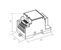 BILTON | LED DIMMER | REG KNX | 12-24VDC | 330W | IP20 |...