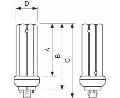 Philips® Master PL-T 57W/830/4p GX24q-5 Kompaktleuchtstofflampen