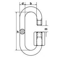 Kettenschnellverschluß,verzinkt 4mm | 90kg