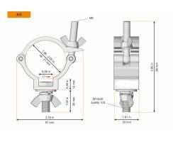 Halbschelle Flutermontage 50mm