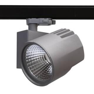 Müller Licht LED Schienenstrahler Tega Silber 60° 4000lm Ra90 3000K
