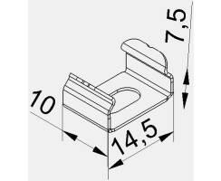 BILTON Montage CT Clip Stahl B14,4xH7,5xL10mm Detailbild 0