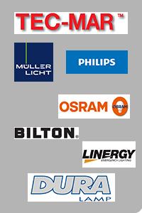 OSRAM, BILTON, Philips, TEC-MAR, DURALAMP, M�ller Licht, LINERGY,...